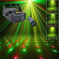 ミニポータブルリモコン赤と緑のレーザープロジェクターランプパーティーディスコDJ KTVクリスマスLEDステージライト効果 OI100B