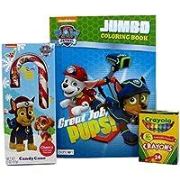 Nickelodeon Paw Patrol Jumboカラーリング&アクティビティブック、キャンディーケーン、およびCrayolaクレヨン