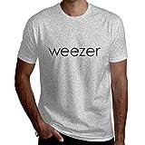 ちひろ Weezer ウィーザー メンズ 綿 半袖 クルーネック Tシャツ ゆったり 無地 吸汗速乾 夏 L