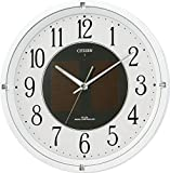 CITIZEN ( シチズン ) 電波 ソーラー 掛け時計 エコライフM806 エコマーク グリーン購入法 適合商品 オフィス 白 4MY806-003