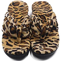 ERGOfoot Orthotic Flip Flops for Women Men Walking Comfort with Arch Support Slippers Flat Thong Sandals, Leopard Print