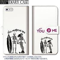 dbedf9d8ca 301-sanmaruichi- iPhone6splus ケース iPhone6plus ケース 手帳型 おしゃれ ペア カップル がいこつ ドクロ