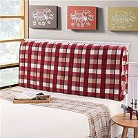 ベッド背もたれクッションベッドクッションベッドサイドピローなしヘッドボードキャンバス大きな柔らかい枕の腰のサポート取り外し可能17色無し4サイズあり (色 : A12, サイズ さいず : 120 * 60 * 10cm)
