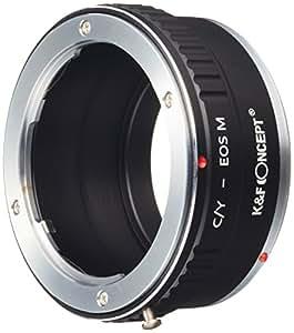 K&F Concept レンズマウントアダプター KF-CYEM (ヤシカ・コンタックスマウントレンズ → キャノンEF-Mマウント変換)