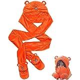 HIMOUTO 。フランネルマント付パーカーオレンジコスプレ衣装