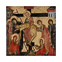 Deposition And Entombment Jesus Christ Painting Large Wall Art Poster Print Thick Paper 24X24 Inch キリストペインティング壁ポスター印刷