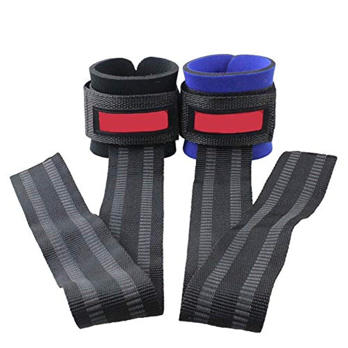 動的スパーク皮肉な2ピース/ロットジムスポーツリストバンドフィットネスダンベルトレーニングリストサポートストラップラップハンドパワーバンド付き水平バー