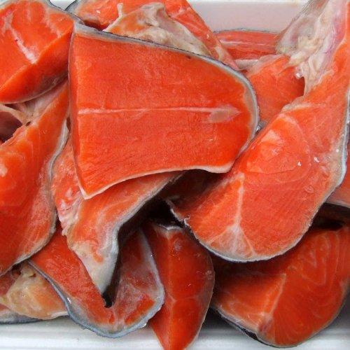 【訳あり】小針水産 鮭(サケ)切り落とし [1パック500g入/真空パック包装] 4パック(計2kg)