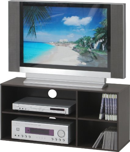 不二貿易 TVラック 幅89cm 32型テレビ対応 ブラウン 84575