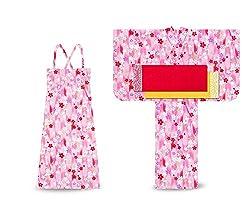子供 2way ワンピース浴衣 サンドレス 4点セット