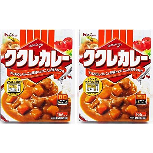 レトルトカレー ハウス食品 ククレカレー 甘口 180g×2個 レトルトカレー 甘口カレー
