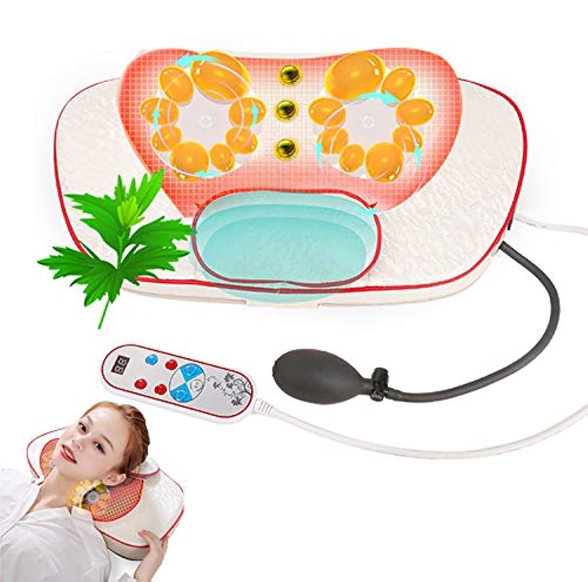苦行支援するサイズ理性的な混練の首のマッサージの枕、赤外線磁気熱いパックAiの草の芳香の首のウエストの肩の世帯の電気マッサージの枕