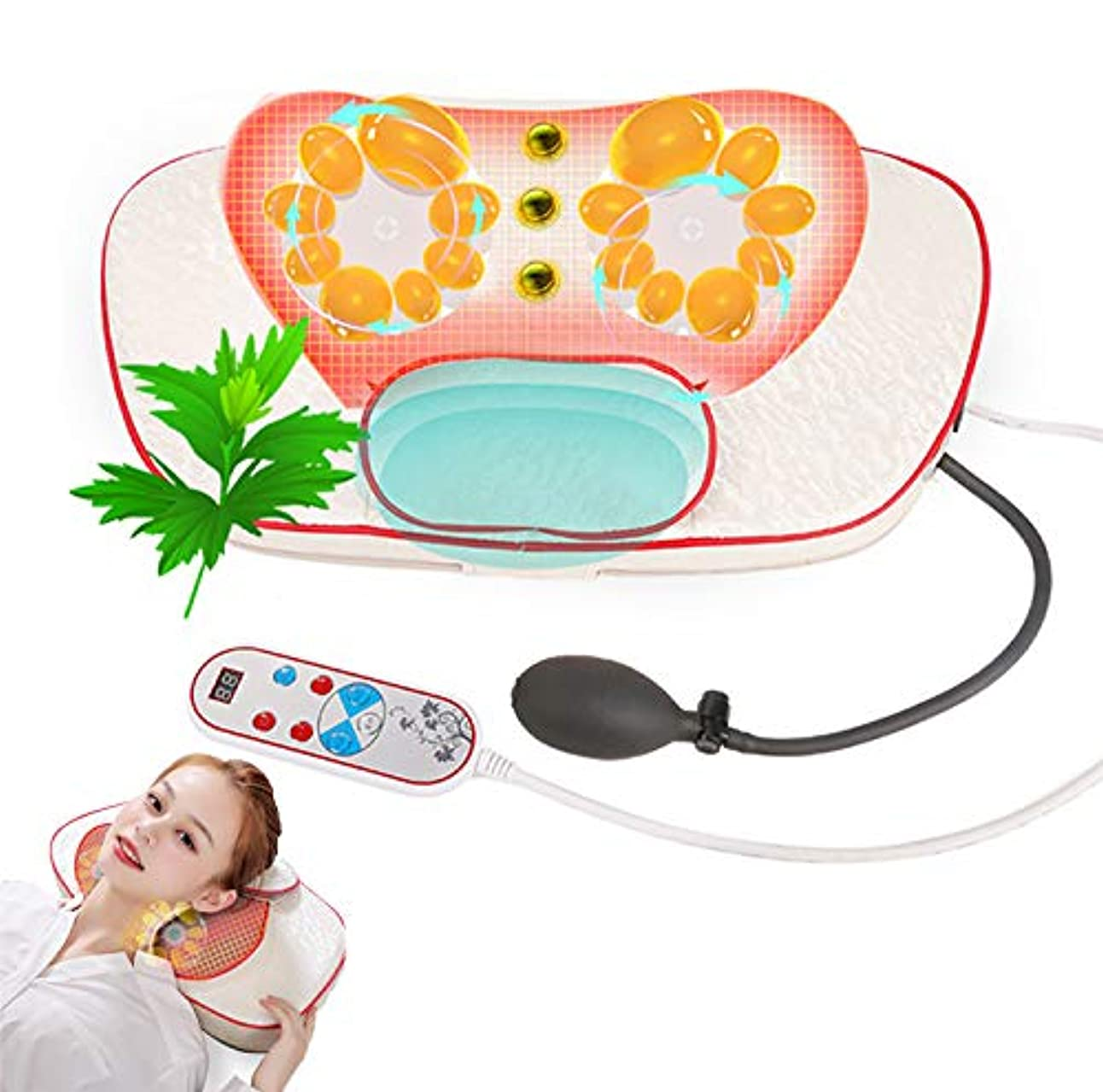 理性的な混練の首のマッサージの枕、赤外線磁気熱いパックAiの草の芳香の首のウエストの肩の世帯の電気マッサージの枕