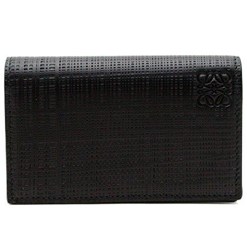 (ロエベ) LOEWE 【LINEN リネン】 カードケース NEGRO/BLACK (ブラック) 10188M97 1100 [並行輸入品]