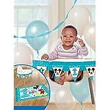 Amscan 第一誕生日ミッキーマウスの高い椅子装飾キットパーティー用品ミッキーの楽しみは一つであることが!