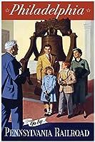 Pennsylvania Railroad ポスター ファウンドリー フィラデルフィア作 ビンテージトラベルアートプリント 12x18 inches 337444