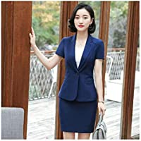 XuBa Summer Short Sleeve Fashion Blazers Suits with Jackets & Blazer Coat for Women Business Blazers Office Work Wear Clothes Sets