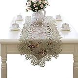 レーステーブルランナー、花刺繍テーブルランナーケータリングイベント、ディナーパーティー、結婚式または日常使用 (サイズ さいず : 40×180cm)