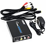 ELEVIEW HDMI to コンポジット/S端子 変換器 デジタル アナログ 変換 hdmi入力を3RCA/S-Video出力へ変換 1080P hdmi rca 変換 hdmiコンバータ アナログ変換器 hdmi コンポジット変換 S-Video変換 日本語取説PDF送付 Blu-Ray/PS4/XBox/PC/Fire TV対応