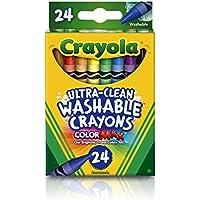 クレヨラ お絵かき 水でおとせるクレヨン 24色 Ultra Clean Washable Crayons 526924