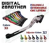 FidgetGear ホンダCBR600RR 03-06のための折り畳み式の拡張可能なクラッチブレーキレバーCBR954RR 02-03
