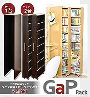 すき間収納ラック【GaP】ラック2台+専用ケースセット ホワイト