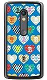 Coverfull カラフルハート ブルー (クリア) / for Moto X Play XT1562/MVNOスマホ(SIMフリー端末) MMRXPY-PCCL-152-M331 MMRXPY-PCCL-152-M331