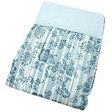 東京西川 肌掛け布団 ブルー シングル 洗える ガーゼ ニットワッフル AE07000530B