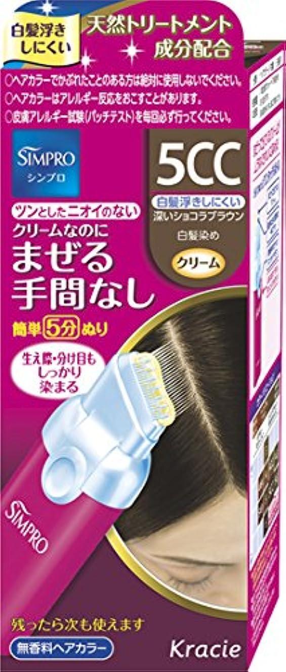 所有権ブラスト不安定シンプロ ワンタッチ無香料ヘアカラー 5CC [医薬部外品] 40g+40g