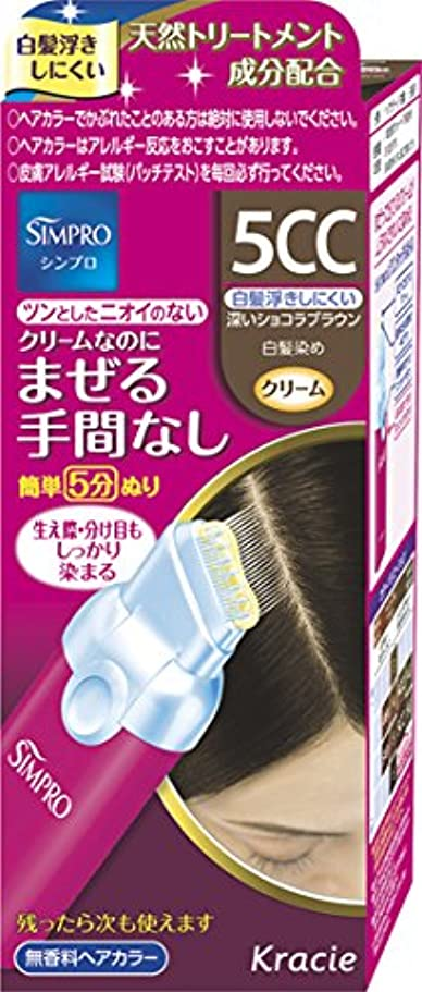 便利さチップ安定しましたシンプロ ワンタッチ無香料ヘアカラー 5CC [医薬部外品] 40g+40g