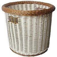ランドリーバスケット 模造籐の寝室の服の収納バスケットのプラスチックの色の混合 ZHANGQIANG (サイズ さいず : 43 * 37cm)