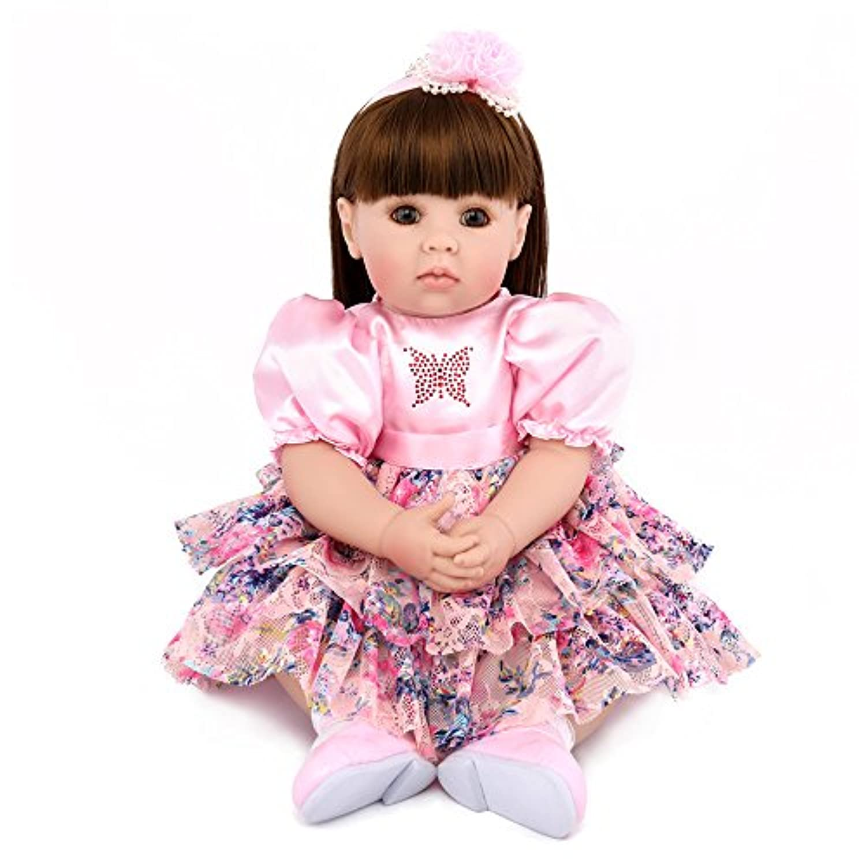 Real Looking Baby Dolls Boy新生児Rebornベビー20インチEyes Openシリコン赤ちゃん人形