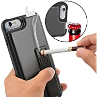 iPhone 6 Plus Case ZVE iPhone 6s Plus Multifunctional Lighter Case Durable Shockproof Protective Cover with Cigarette Lighter Bottle Opener for Apple iPhone 6 Plus / 6s PLUS 5.5 Inch - Black [並行輸入品]