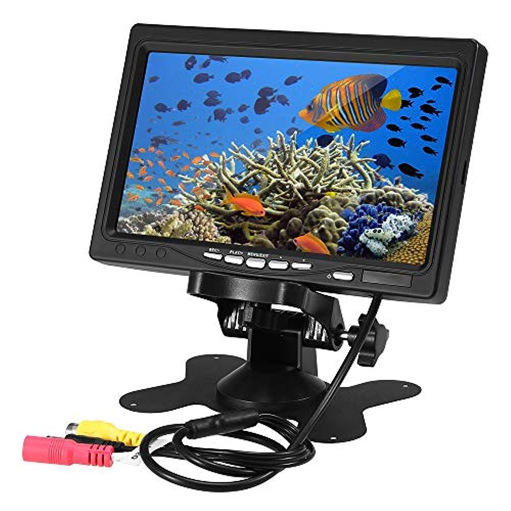 忠実にハックホームLIXADA 魚群探知機モニター 7インチ LCDモニター監視 8GBメモリカード 釣り 録画 写真