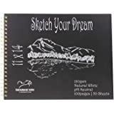 """Entrustment Sketch Book, 150gsm,11"""" X 14"""", pH Neutral, Natural White, Premium Sketch Book with Spiral Bind, Excellent for Pai"""