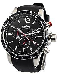 [エドックス]EDOX メンズ クロノラリーS クロノグラフ ローズゴールド ブラック ラバー 10229-3CA-NIN 腕時計 [並行輸入品]