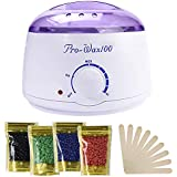 Ausale Wax Warmer Heater, Portable Electric Hair Removal Kit for Facial &Bikini Area& Armpit-- Melting Pot Hot Wax Heater accessories Total Body Waxing Spa or Self-waxing Spa in Home For Girls & Women & Men