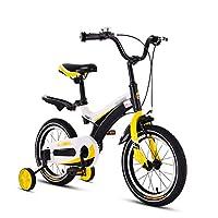 イエローベビー自転車ベビー自転車3-10歳の少年少女自転車12 14 16 18インチ (色 : Spoke wheels, サイズ さいず : 18 inch)