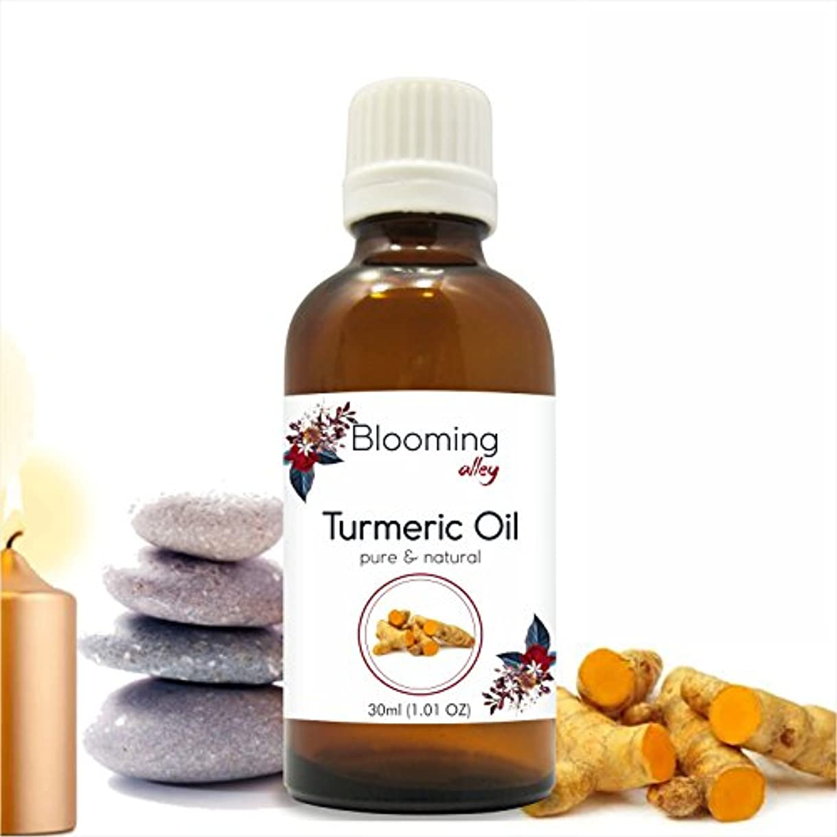 緩やかな中間腐食するTurmeric Oil (Curcuma Longa) Essential Oil 30 ml or 1.0 Fl Oz by Blooming Alley