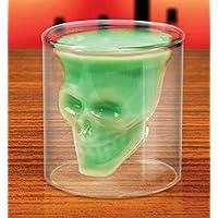 HANBUN とってもオシャレな スカル ショットグラス 髑髏 骸骨 ショットグラス カップ ドクロ スカル 髑髏型 骸骨 海賊 HK041 (150ml)