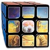 可愛い犬の宇宙飛行士 スピードキューブ 3x3x3 立体パズル ポップ防止 回転スムーズ 競技用 55x55x55mm 知育玩具 脳トレ プレゼント カスタムデザイン