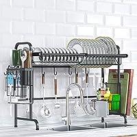 皿乾燥棚上シンクディスプレイスタンド水切りステンレス鋼キッチン用品収納棚道具ホルダー
