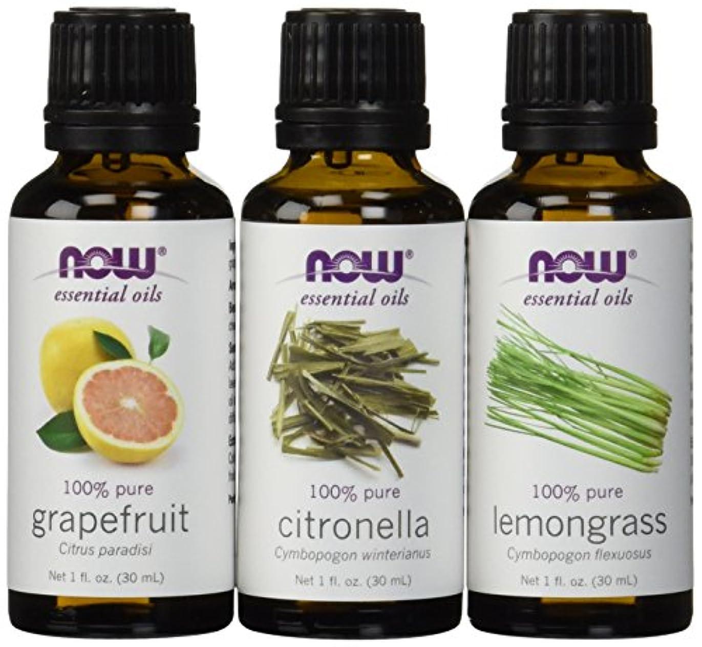 クリケットピグマリオンリアル虫除けに ナウフーズ エッセンシャルオイルブレンド:シトロネラ?レモングラス?グレープフルーツ[各30ml] NOW Essential Oils: Mosquito Repellent Blend - Citronella...