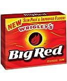 【10個入り】Wrigley's Big Red Cinnamon Gum (15 stick pack, 10 pks.) リグレー ビッグレッド シナモン ガム(15スティック入りx10パック)