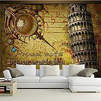 Bzbhart カスタム3D大壁画、レトロなノスタルジックな壁紙、リビングルームのソファーテレビの壁の寝室の壁紙-300cmx210cm