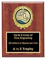 水泳Plaque Awardsメス6x 8WoodスポーツトロフィーSwim Meet Trophies Free Engraving