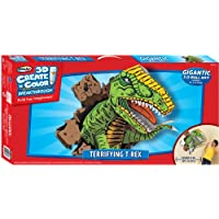 RoseArt 3D Create 'N' Color Breakthrough Cardboard Terrifying T-Rex Coloring and Assembly Set (43471) by Rose Art