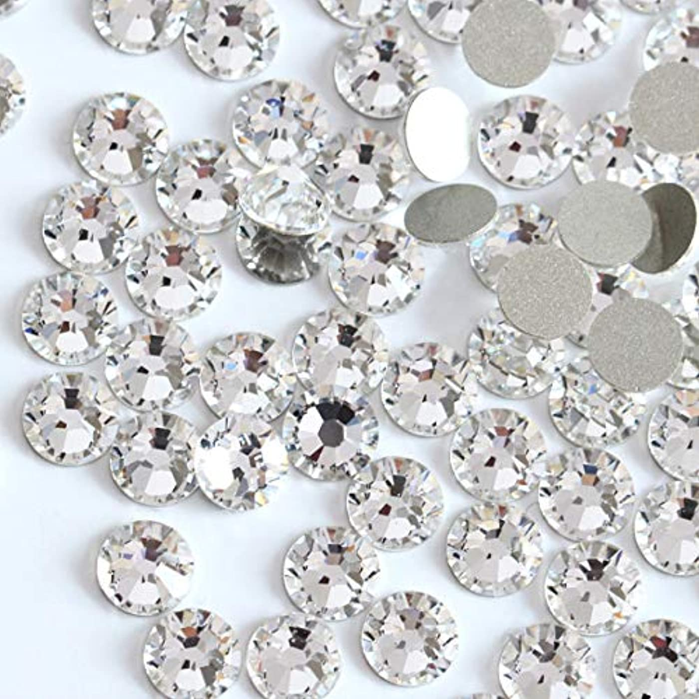 流行シンカン調整可能【ラインストーン77】 超高級 ガラス製ラインストーン SS4~SS40 クリスタル スワロフスキー同等(2.2mm (SS8) 約200粒)