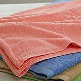 タオルケット コットン100% ハーフサイズ100×140cm 綿100%の肌触りが心地よい、総タオル生地のケットです。 (ピーチ)