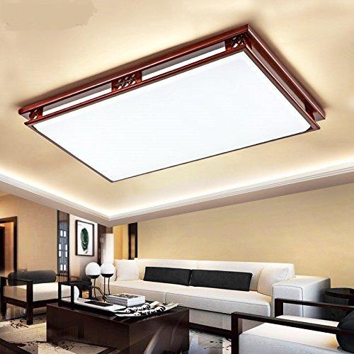 中国スタイルの木製の天井のライトクリエイティブ矩形のアクリルリビングルームの寝室ホールホテルライジング天井ランプZA ZS42 ( Size : L35cm )